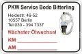 Service-Aufkleber & Werkzeugaufkleber
