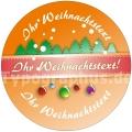 Weihnachtsaufkleber - Auf Wunsch mit Logo oder individuellem Text
