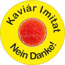 Aufkleber Kaviar Imitat nein danke