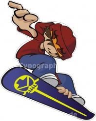 Figuraufkleber - Snowboarder
