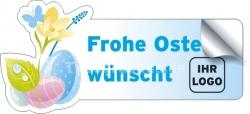 Frohe Ostern - Aufkleber mit Logo
