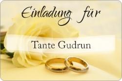 Hochzeitsaufkleber Einladung personalisiert