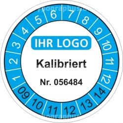 Prüfplakette mit Prüfnummer / Seriennummer