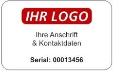 Seriennummer mit Logo