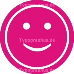 Smiley - Aufkleber rund
