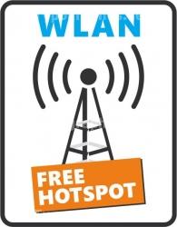 WLAN WiFi Wireless LAN Fensteraufkleber