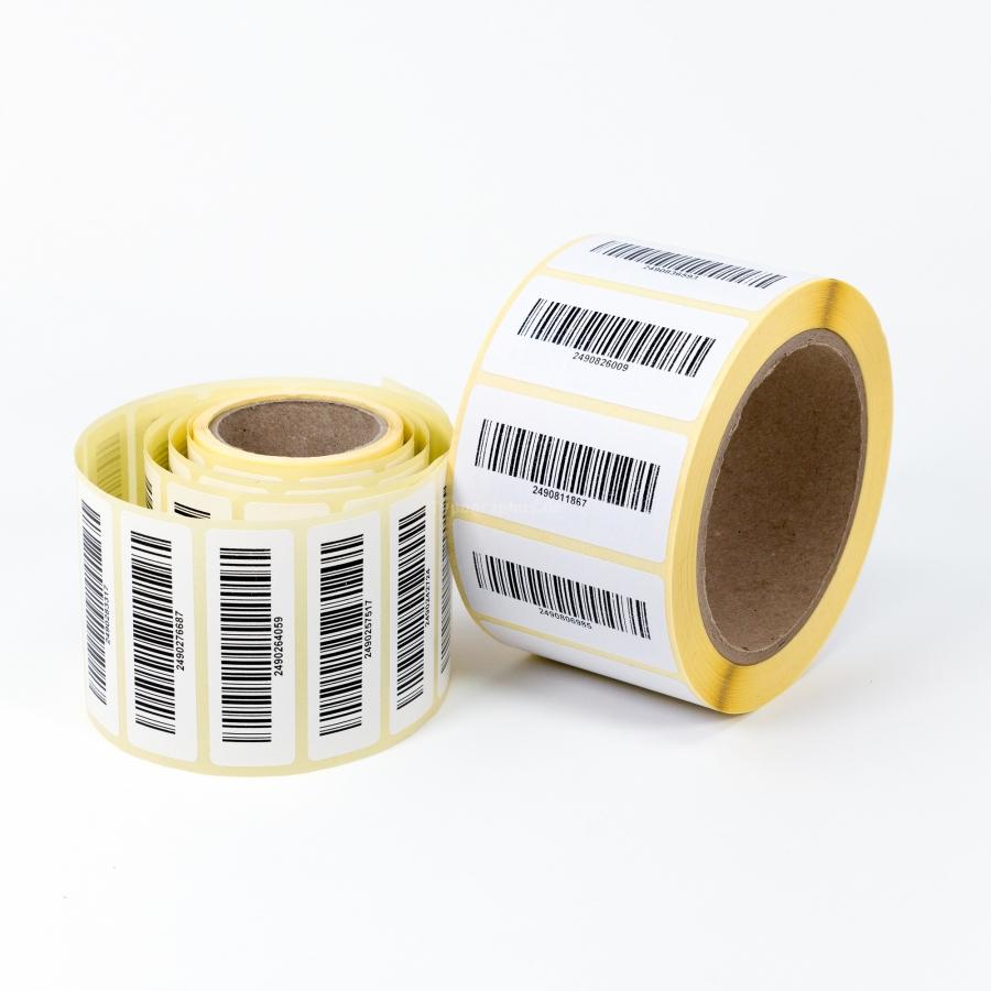 Barcode Aufkleber Rolle fortlaufende Nummer