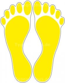 Fußbodenaufkleber Fußabdruck Verschiedene Farben 10x32 Cm