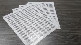 Barcode Etiketten Bogen