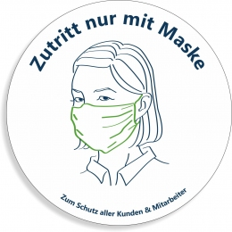 Aufkleber Maskenpflicht / Mund-Nasen-Schutz