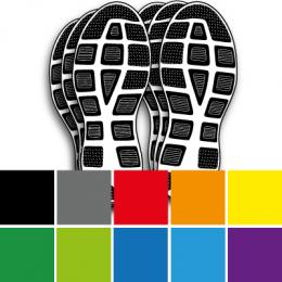 Aufkleber Fußspuren Fußabdruck Shop Typographusde