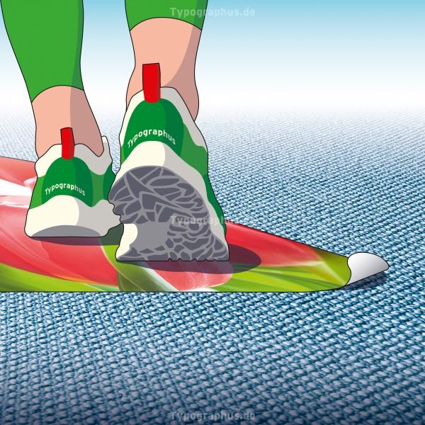 Floor Graphics - Bodenaufkleber für Teppiche Texwalk