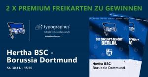 Gewinnspiel Hertha BSC vs. BVB - Heimspiel 30.11.2019