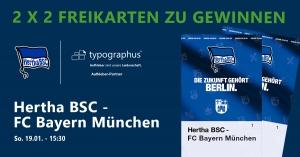 Gewinnspiel Hertha BSC vs. FCB - Heimspiel 19.01.2020