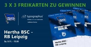 Gewinnspiel Hertha BSC vs. RB Leipzig - Heimspiel 09.11.2019