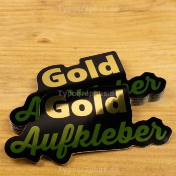 Aufkleber Folie Gold