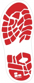 Fußbodenaufkleber Fussabdruck Schuhabdruck oder Footprint