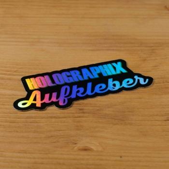 Hologramm Aufkleber mit Logo