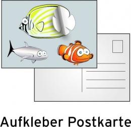 Postkartenaufkleber drucken - Einzelne Aufkleber zum Abziehen