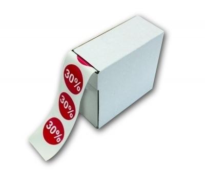 etiketten auf rolle in praktischer spenderbox. Black Bedroom Furniture Sets. Home Design Ideas
